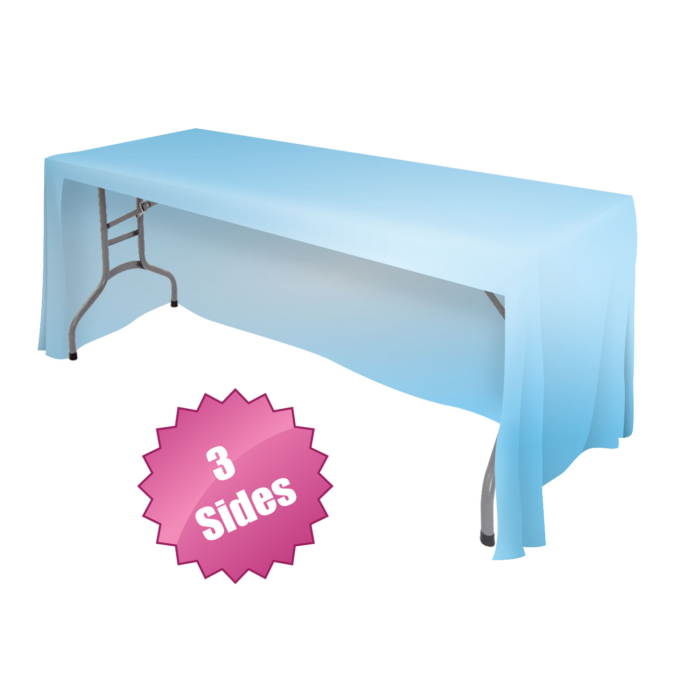 Front logo table throws tablecloth draped table cover for Table th row