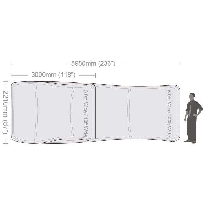 S-Shaped Fabric Tube Display-2